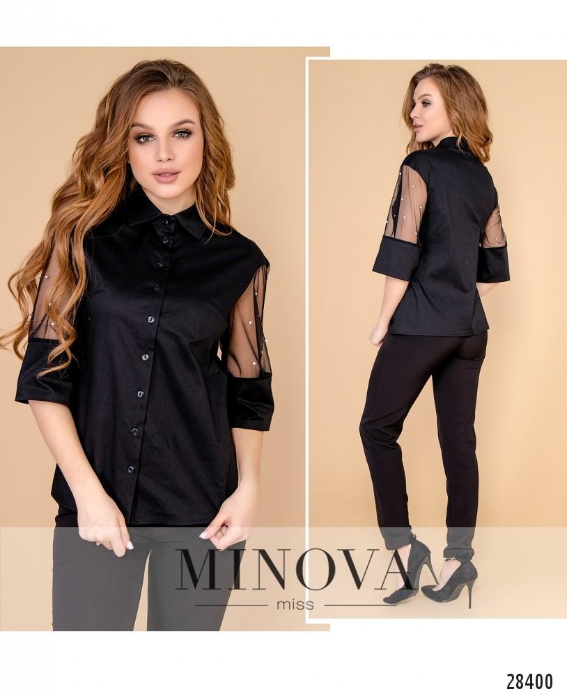 Блуза №4099-черный