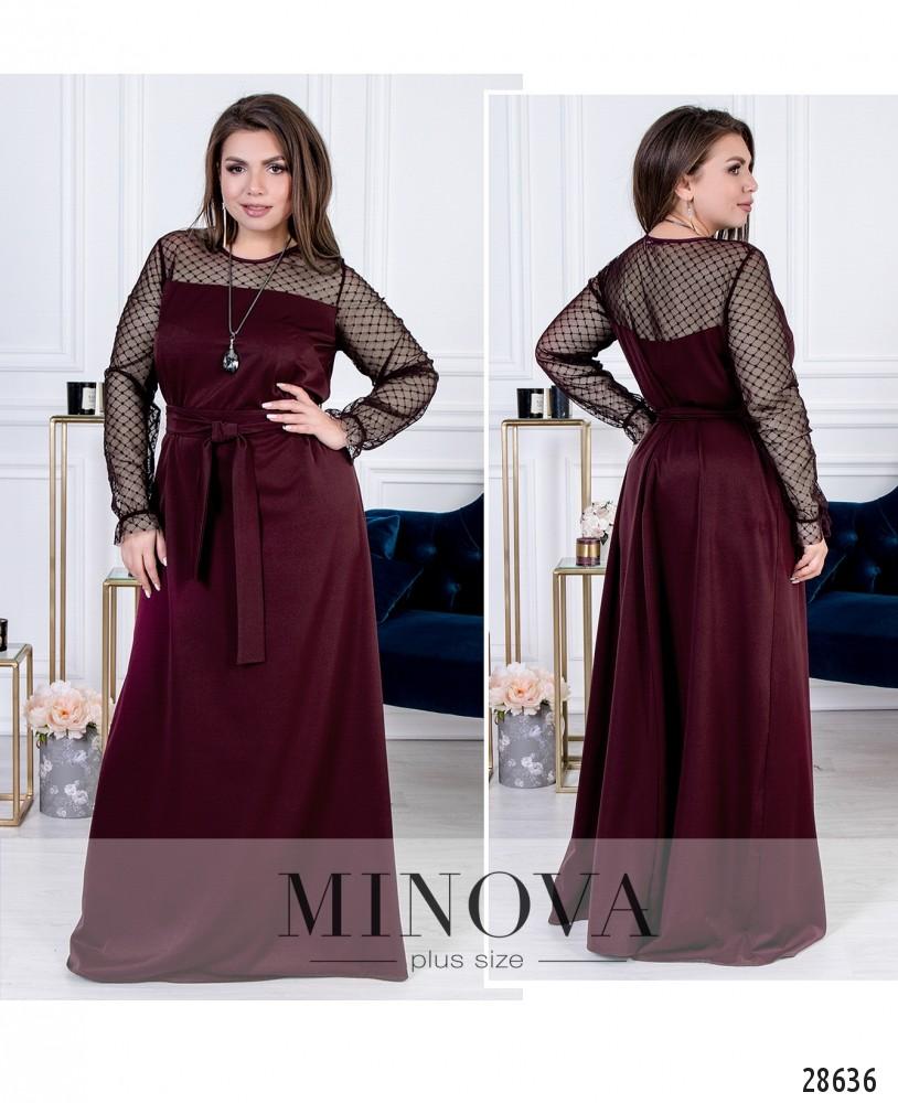Платье №15140-бордо