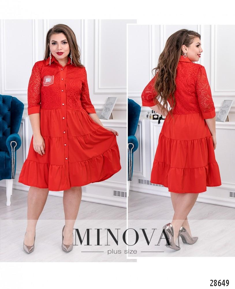 Платье №092-красный
