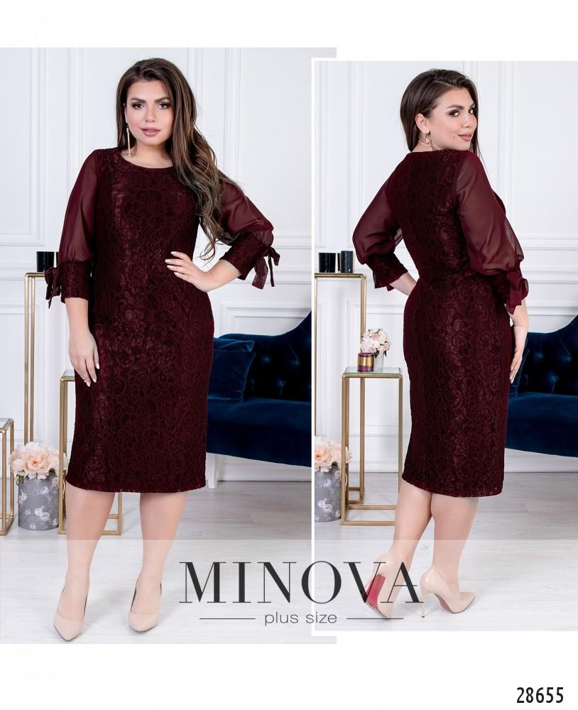 Платье №422-бордо