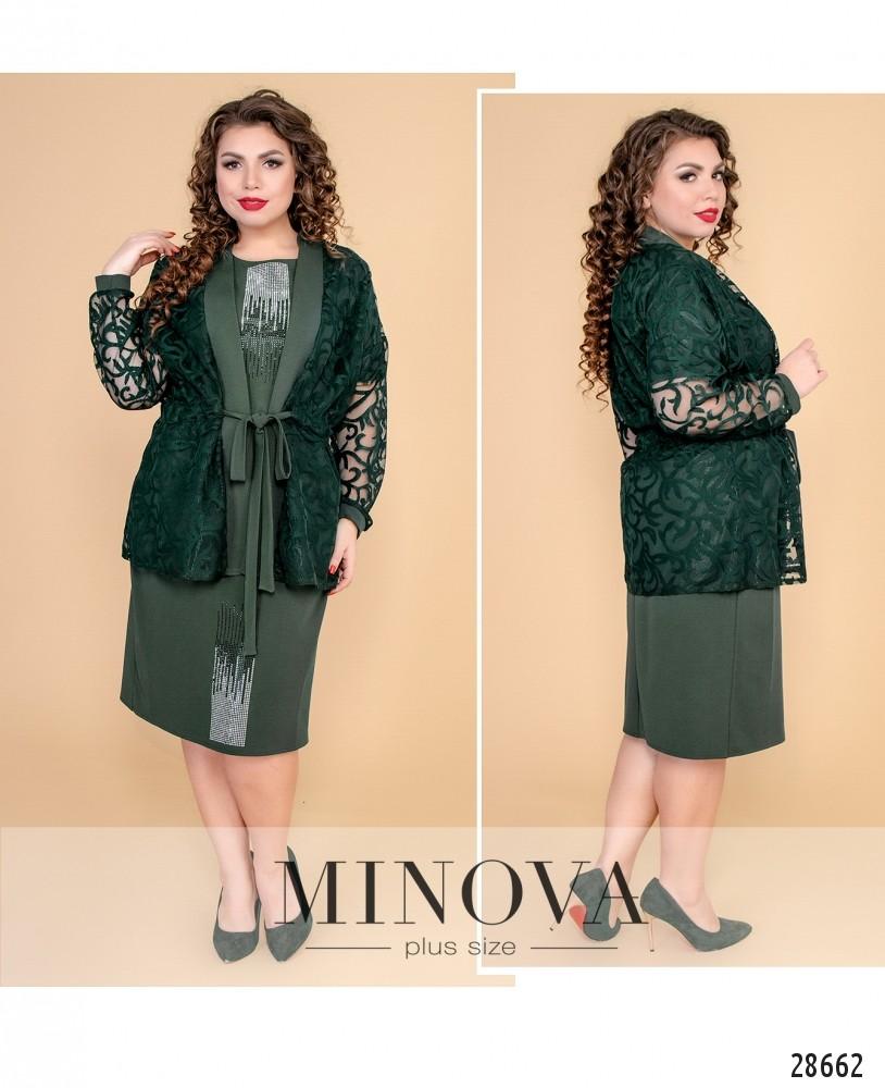 Платье №631-темно-зеленый