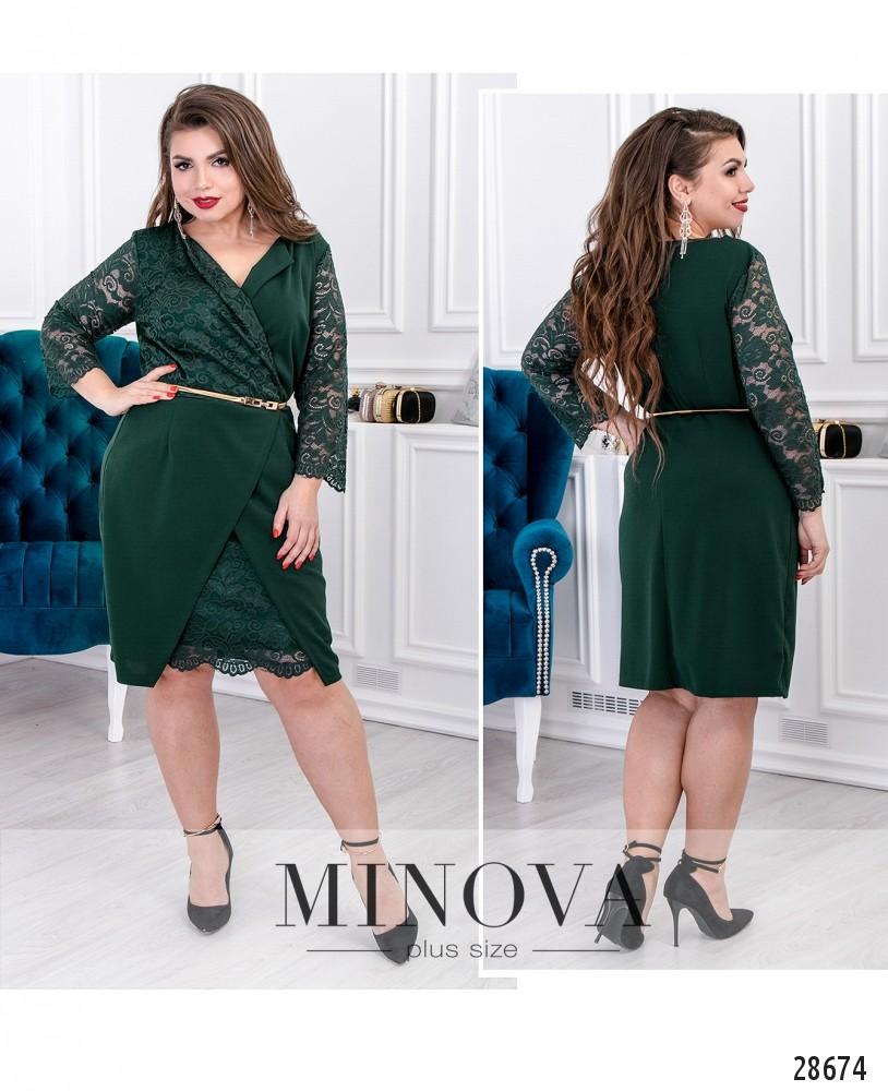 Платье №710-темно-зеленый