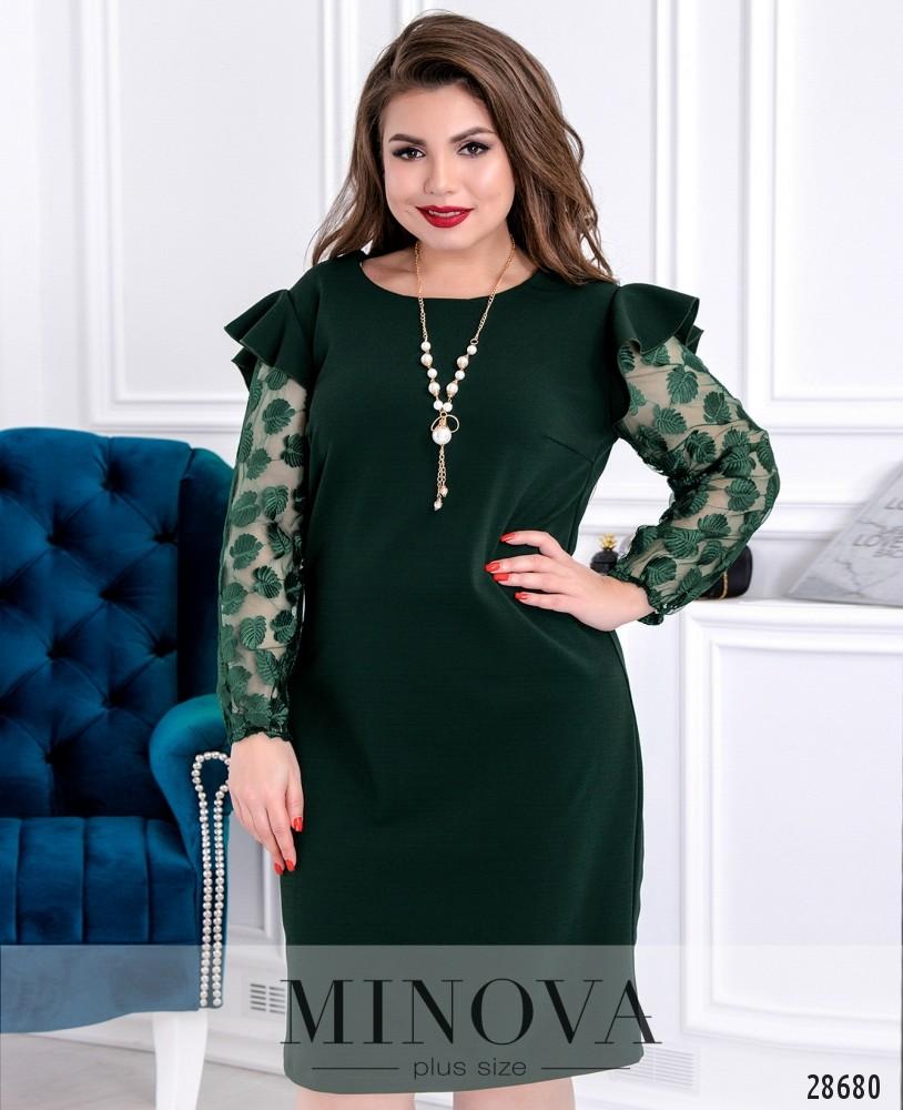 Платье №627-темно-зеленый