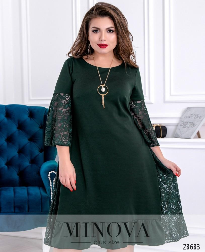 Платье №711-темно-зеленый