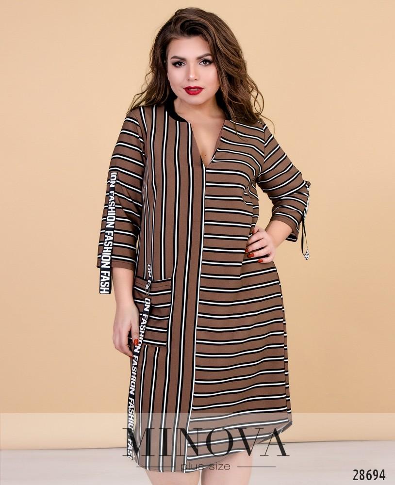 Платье №629-коричневый
