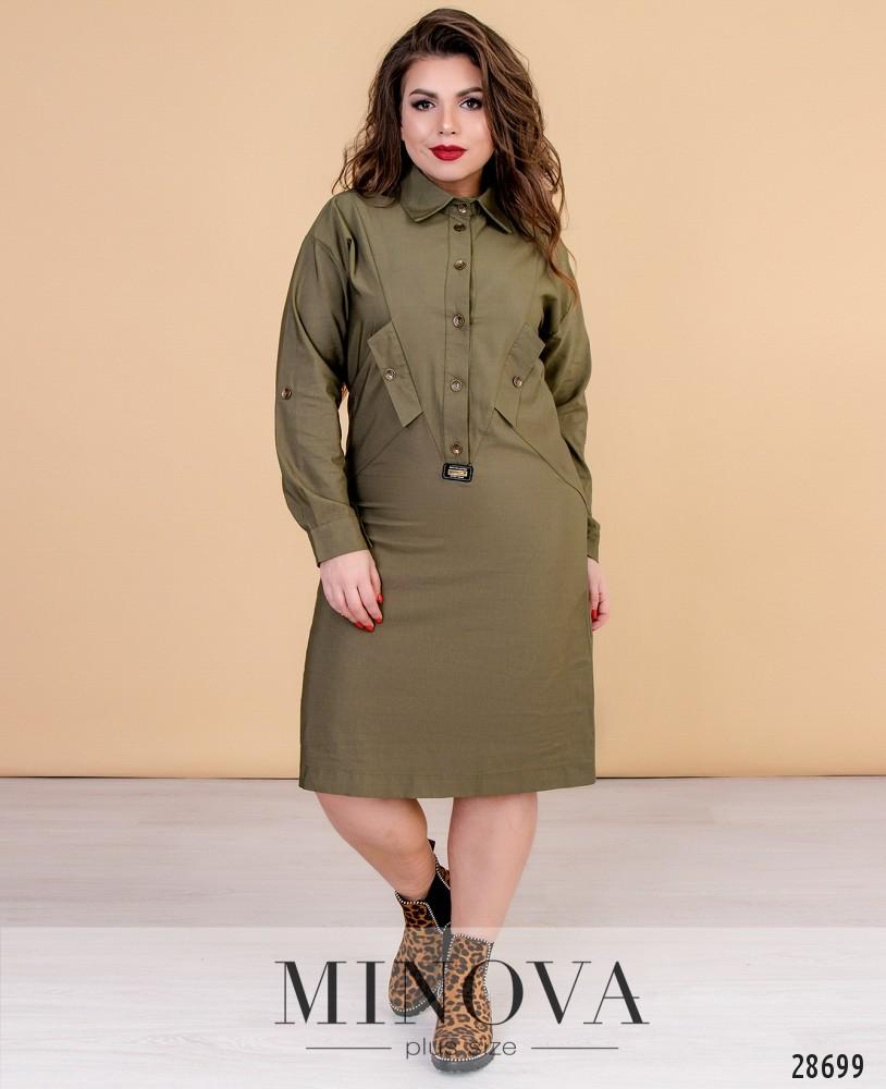 Платье №1535-хаки