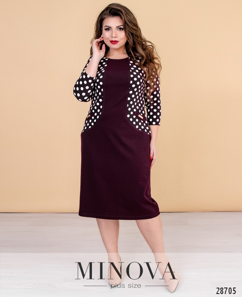 fe65a3995e4 Платье №416-марсала купить оптом и в розницу от производителя размер ...