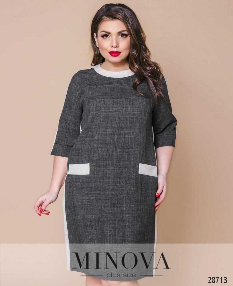 Платье №392-темно-серый