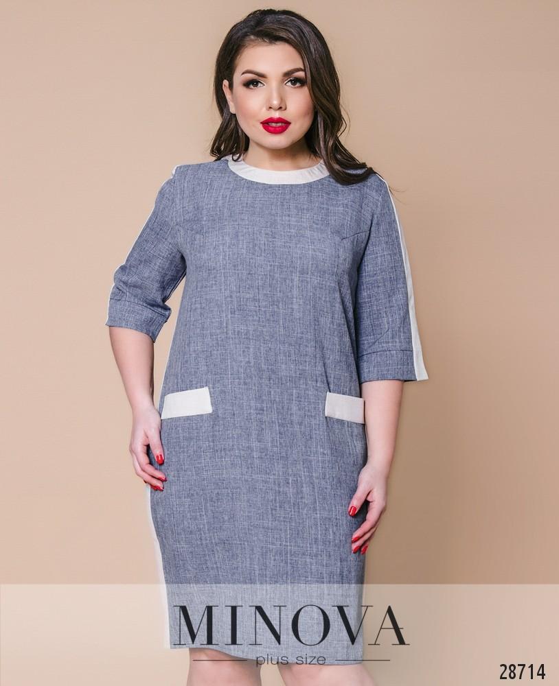 Платье №392-светло-серый