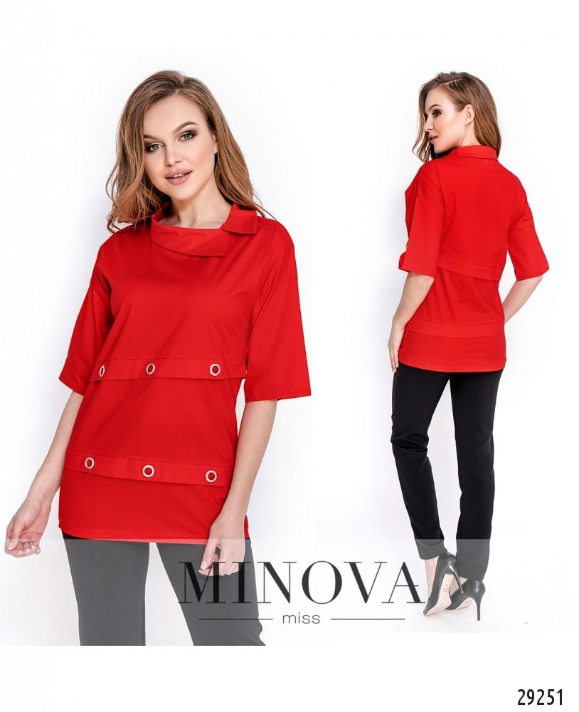 Рубашка №1642-красный (н)