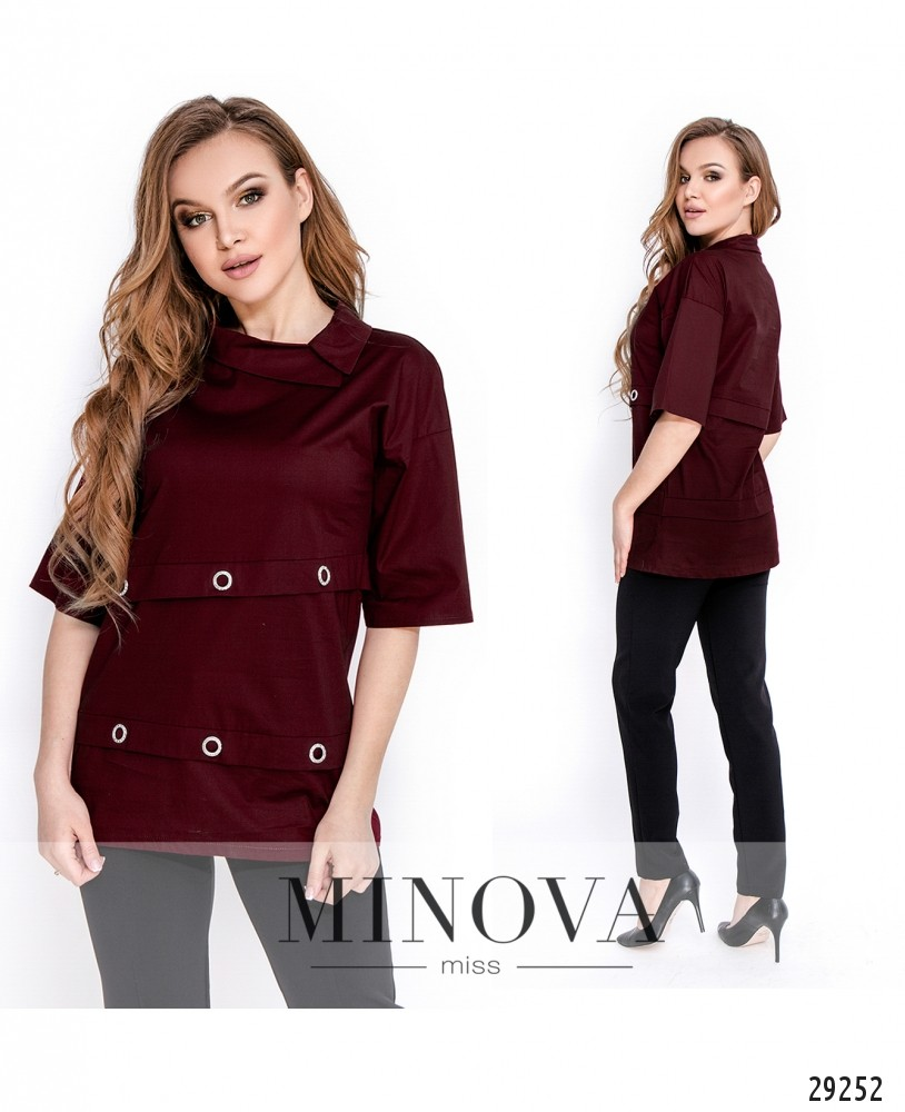 Рубашка №1642-марсала (н)