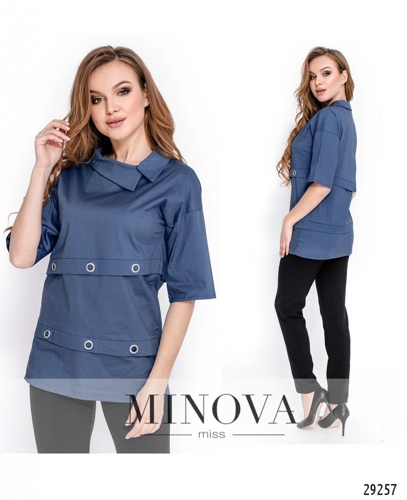 Рубашка №1642-джинс (н)