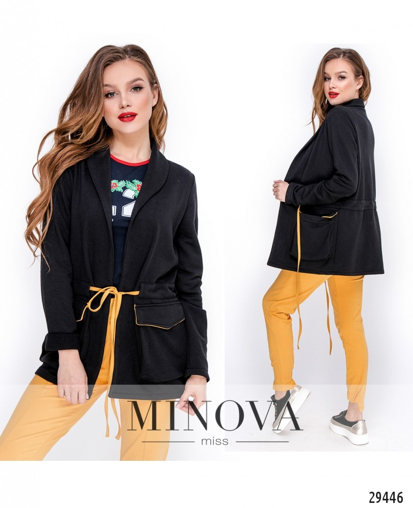 Пиджак №3088.19-черный (н)