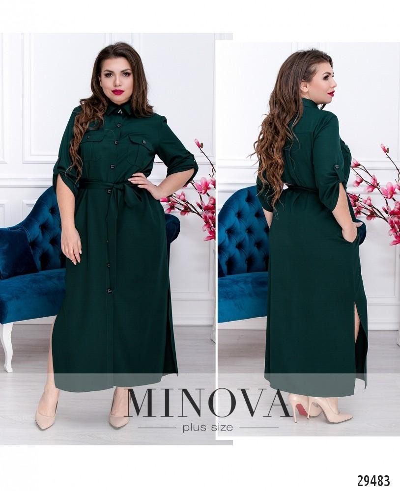 Платье №271.1-темно-зеленый (sale)