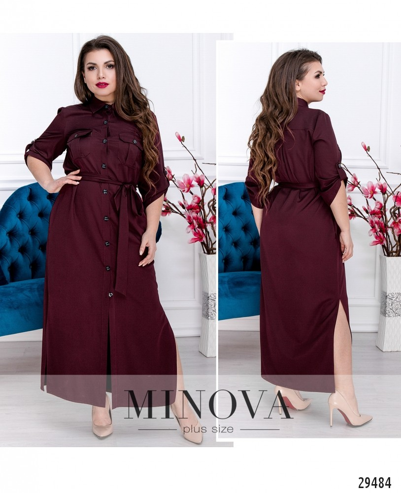 Платье №271.1-марсала (sale)