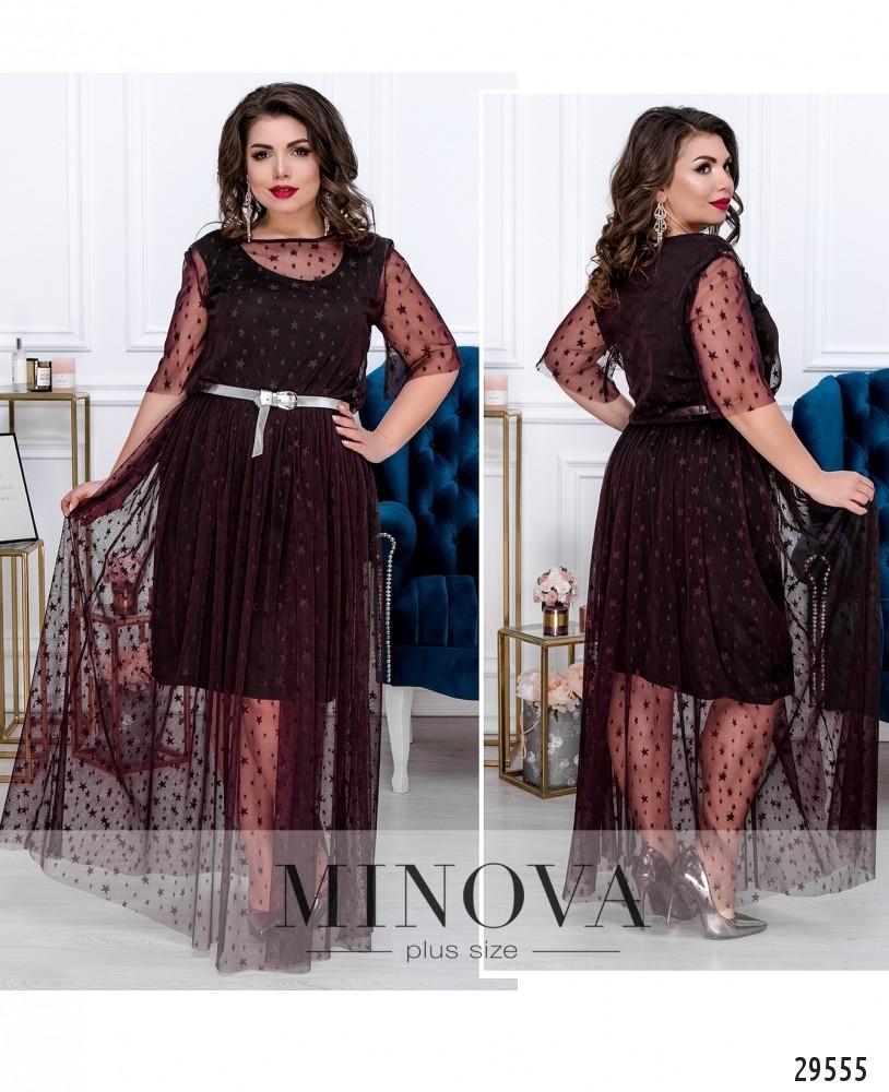 Платье №619-бордо (sale)