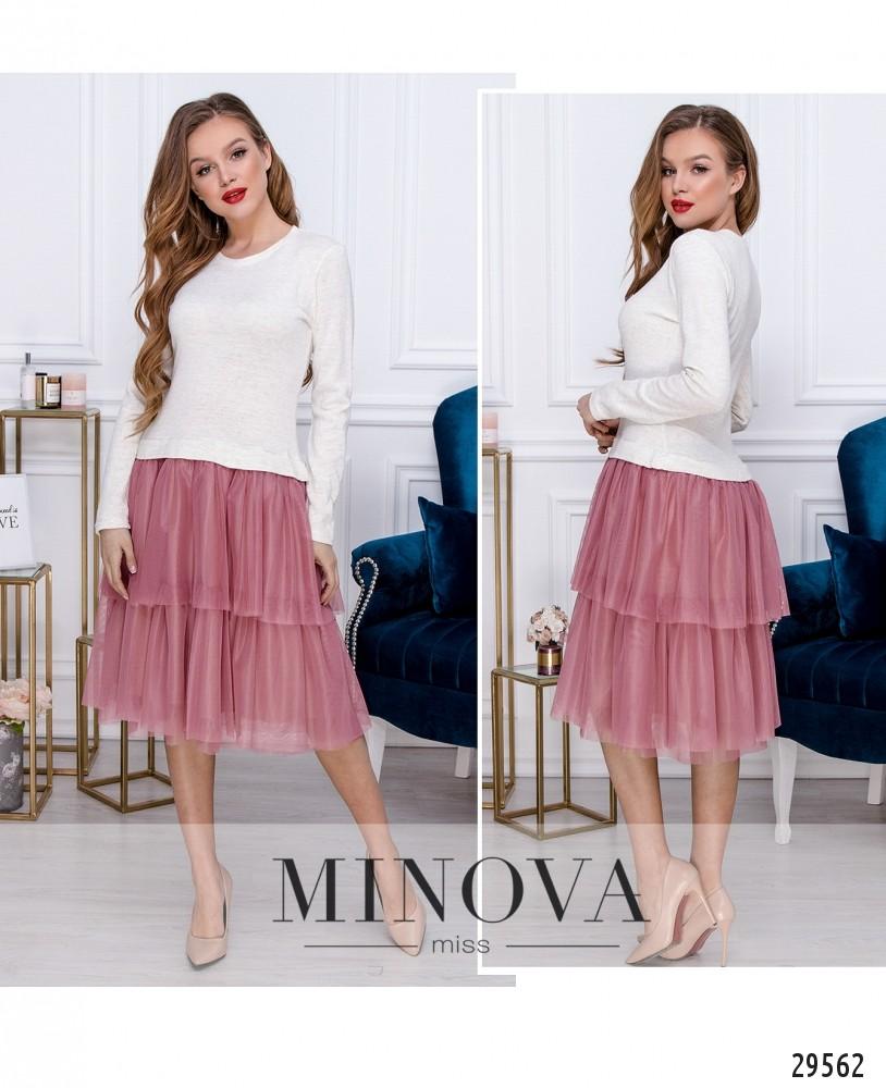 Платье №5143.21-розовый (н)
