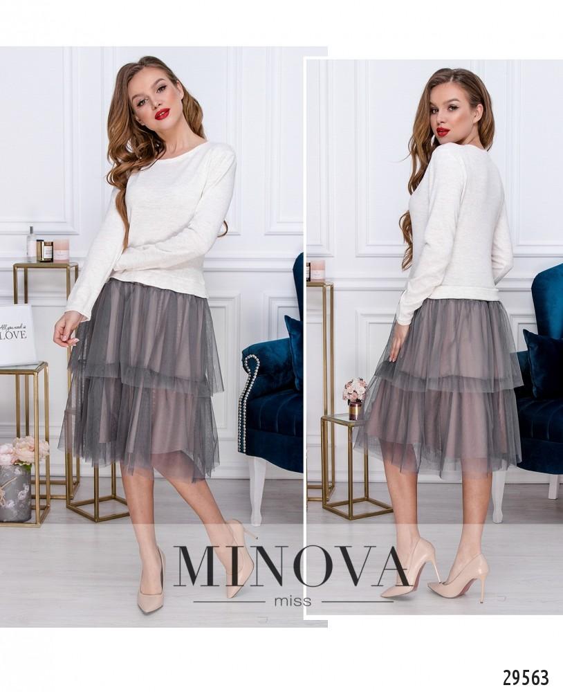 Платье №5143.21-серый (н)