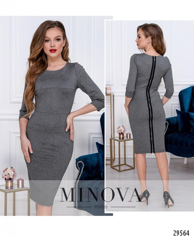 Платье №1017-серый (н)