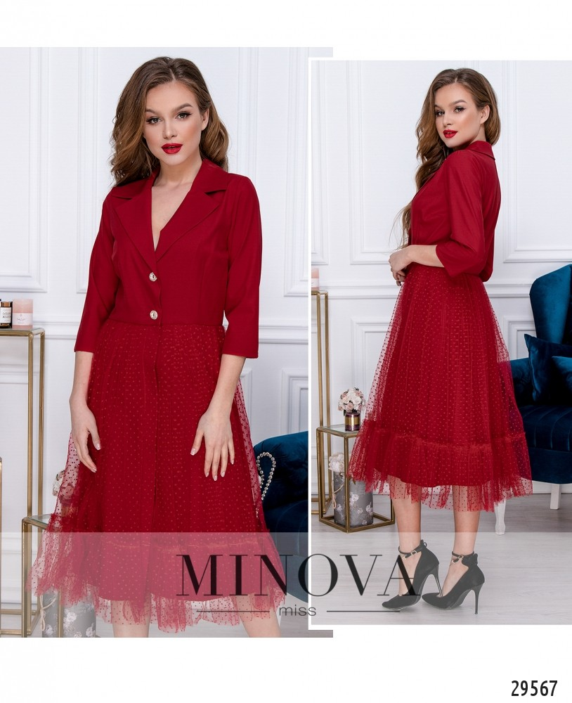 Платье №209-1-красный (н)
