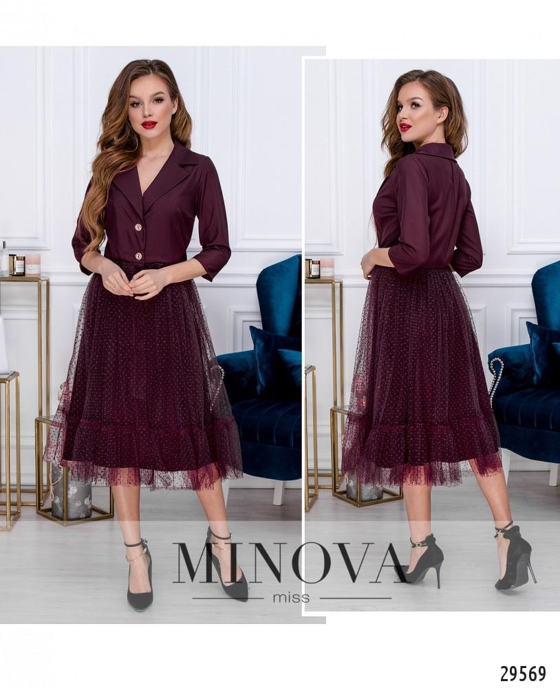 Платье №209-1-бордо (н)