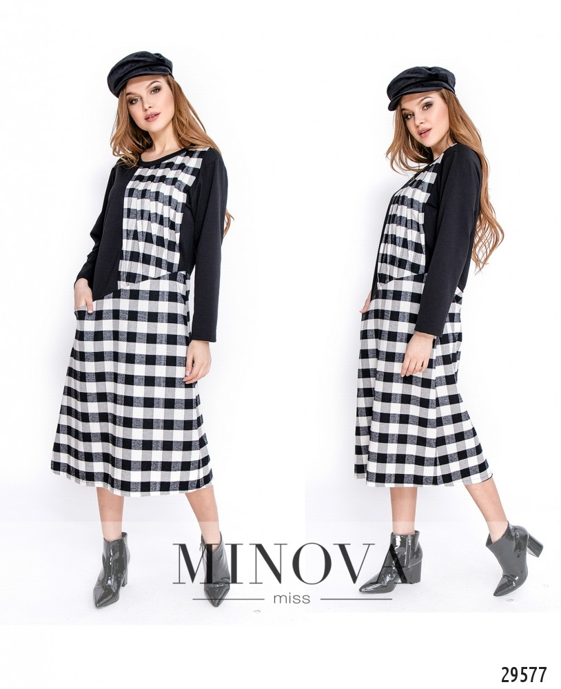 Платье №5138.20-черно-белый (sale)