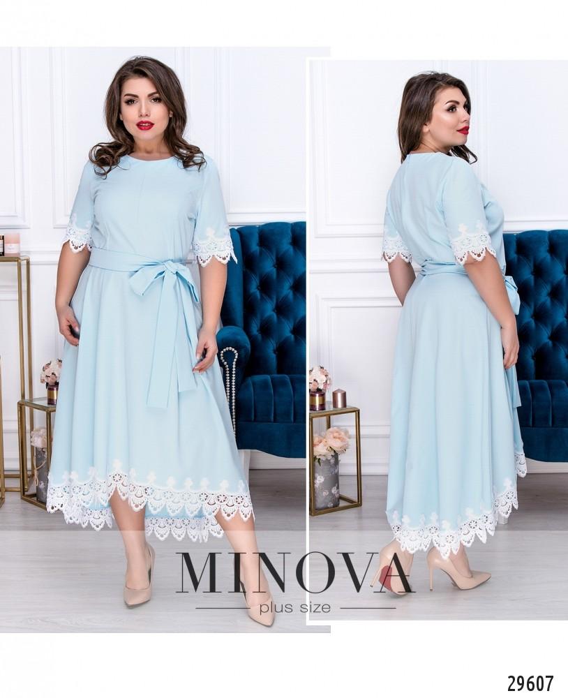Платье №155-голубой (sale)