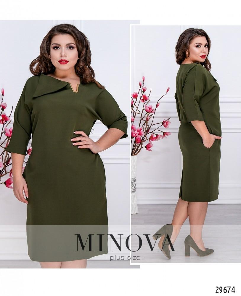 Платье №529-хаки (sale)