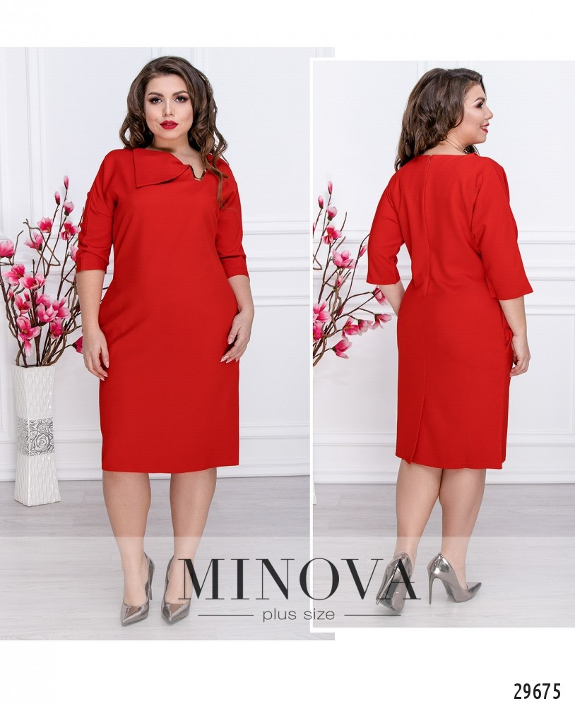 Платье №529-красный (sale)