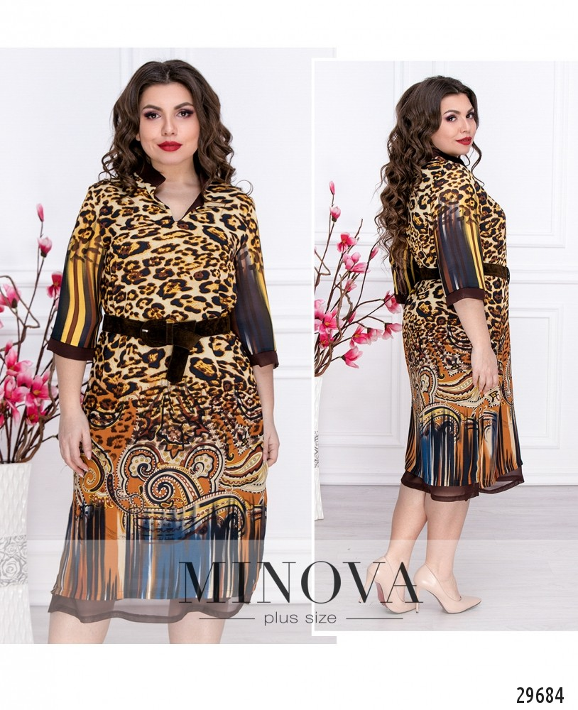 Платье №111-шоколадный (sale)