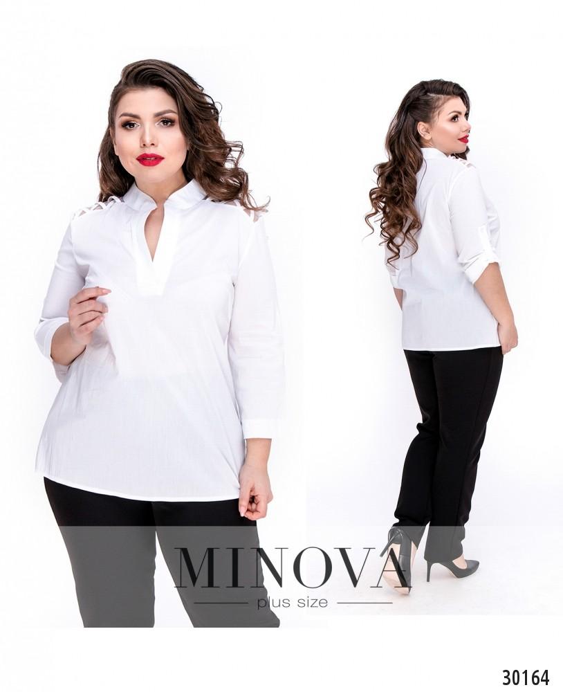 Блуза №4100Б-белый