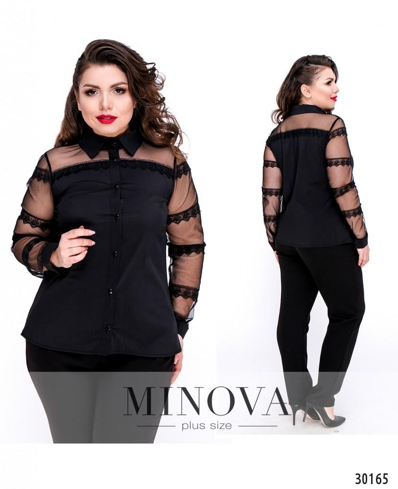 Блуза №1053Б-черный