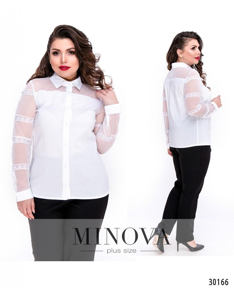 Блуза №1053Б-белый