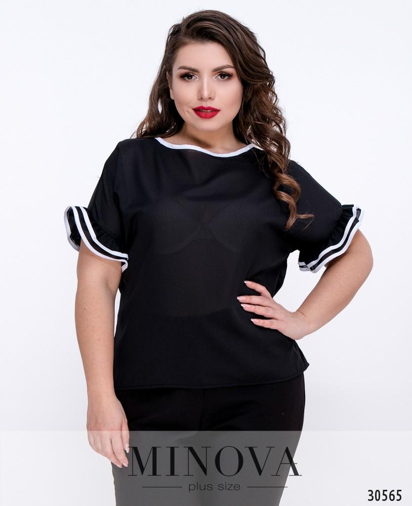Блуза №1054Б-черный