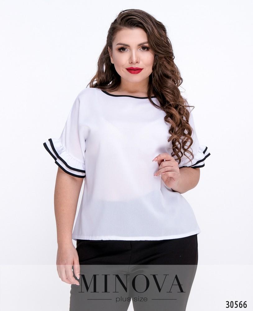 Блуза №1054Б-белый
