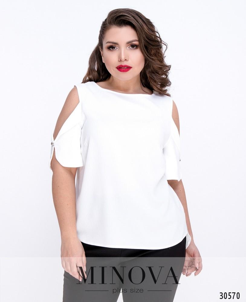 Блуза №4087Б-белый