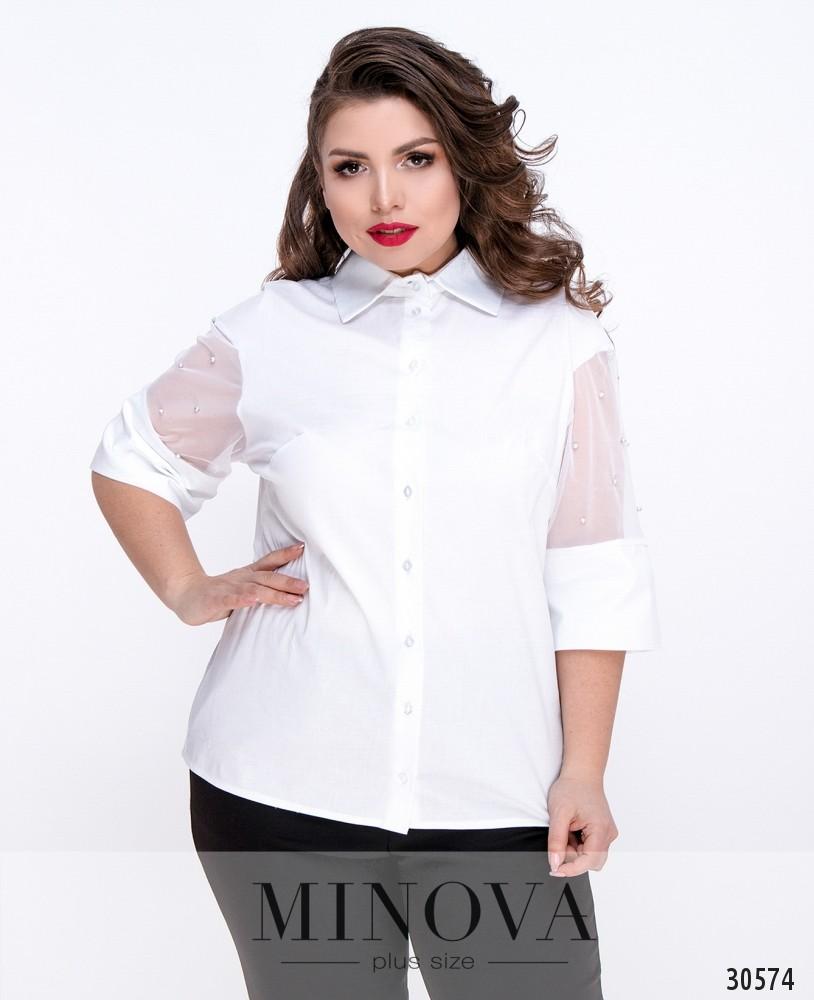 Блуза №4099Б-белый