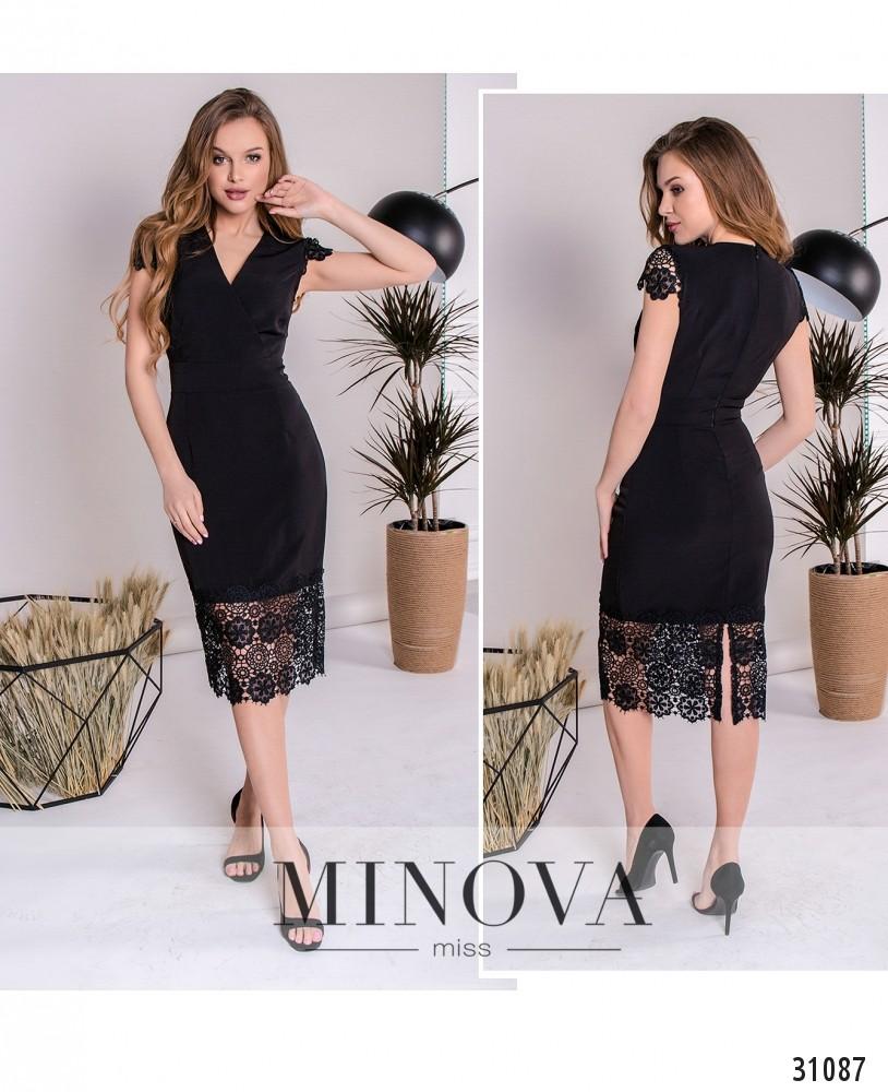 Платье №1082-черный (sale)