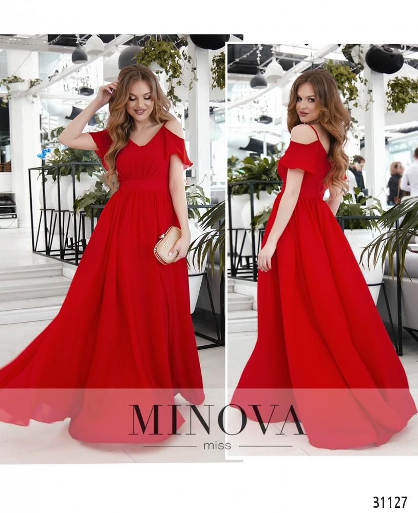 Платье №3118-красный (sale)