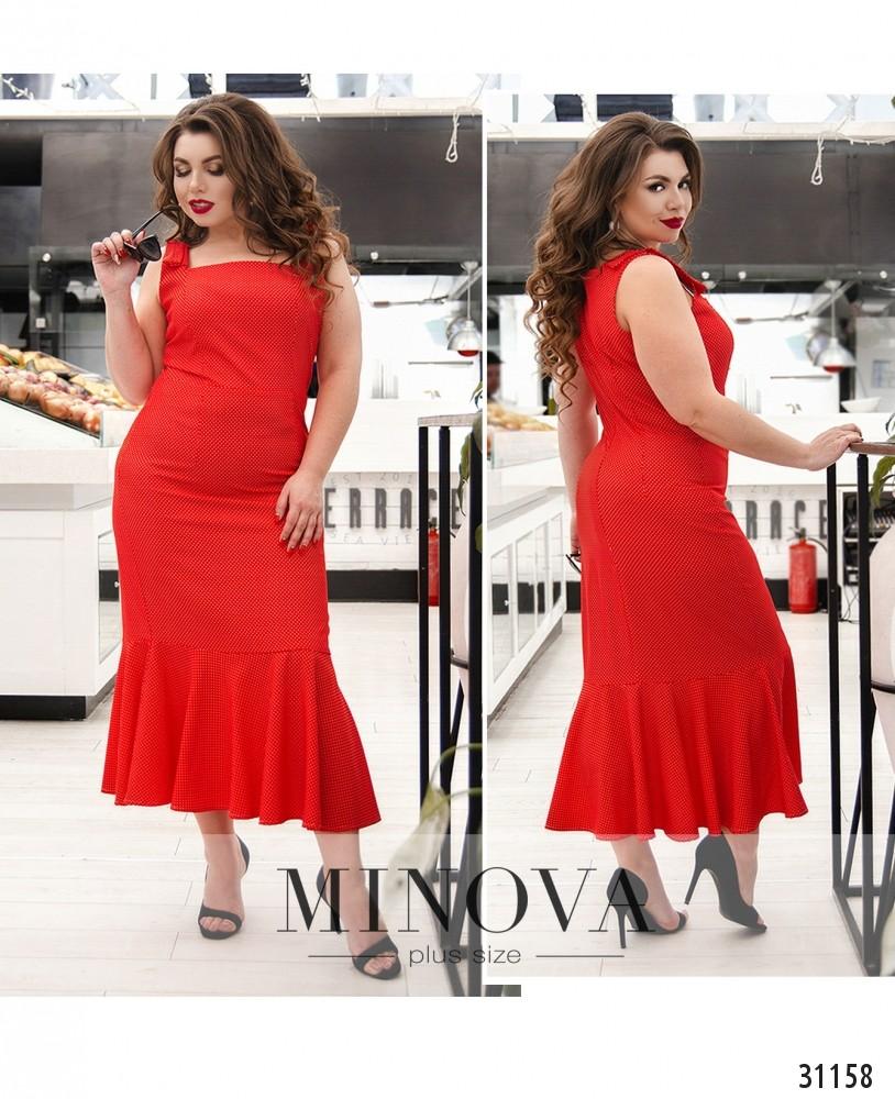 Платье №348-красный