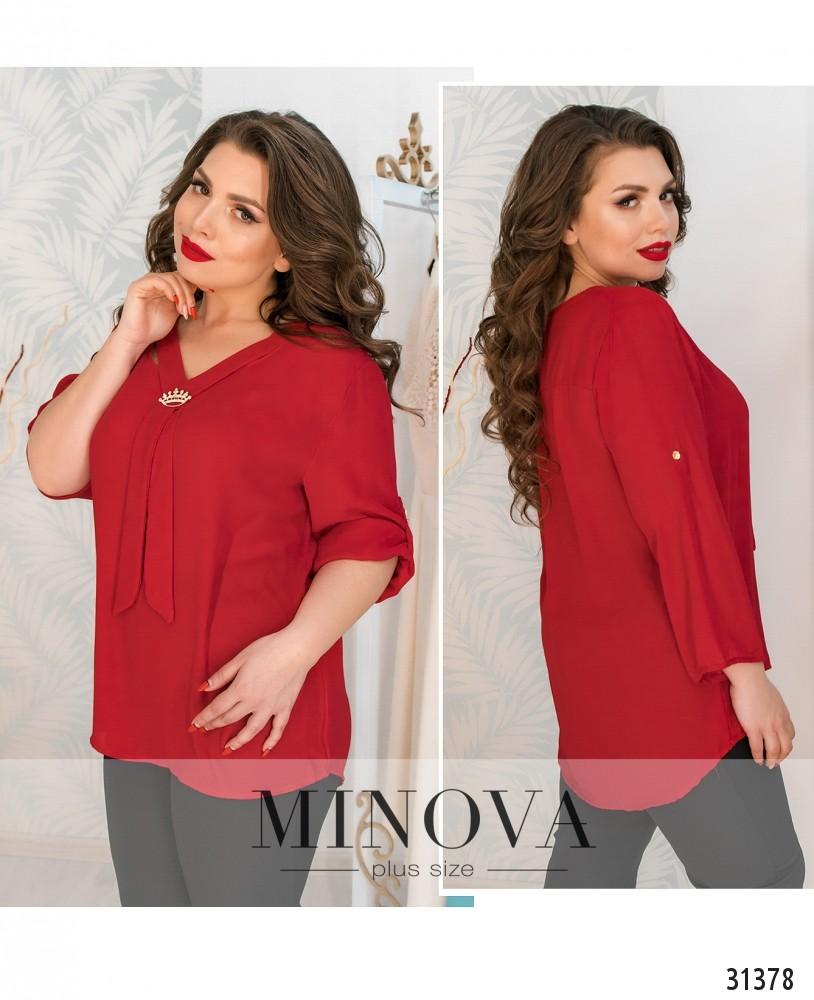 Блуза №4106-красный