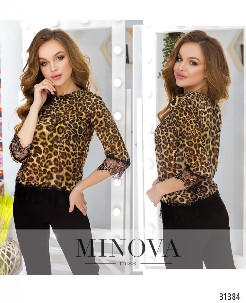 Блуза №1056-леопардовый (н)