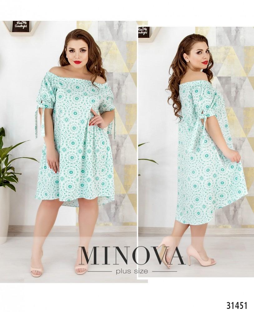 Платье №677-мята (sale)
