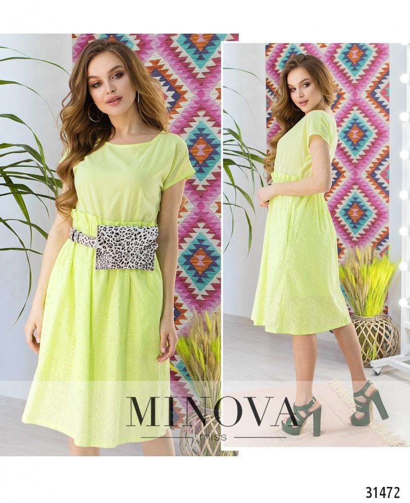 Платье №5017.18-лайм (sale)