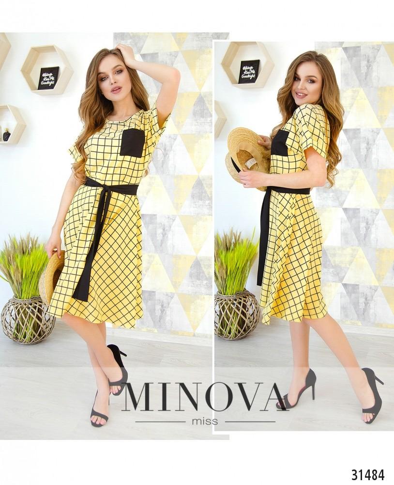 Платье №6220-желтый (н)