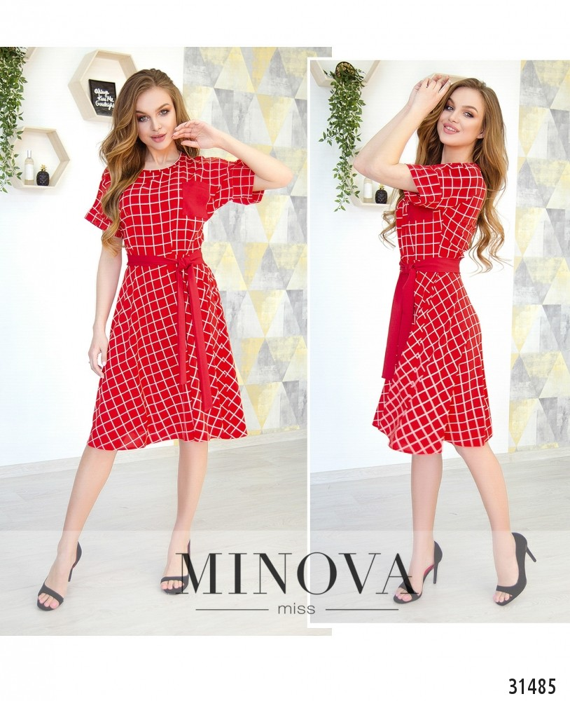 Платье №6220-красный (н)