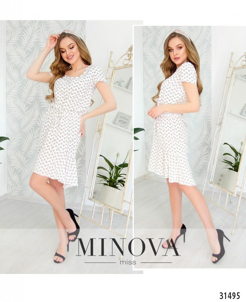 Платье №6219-белый (н)