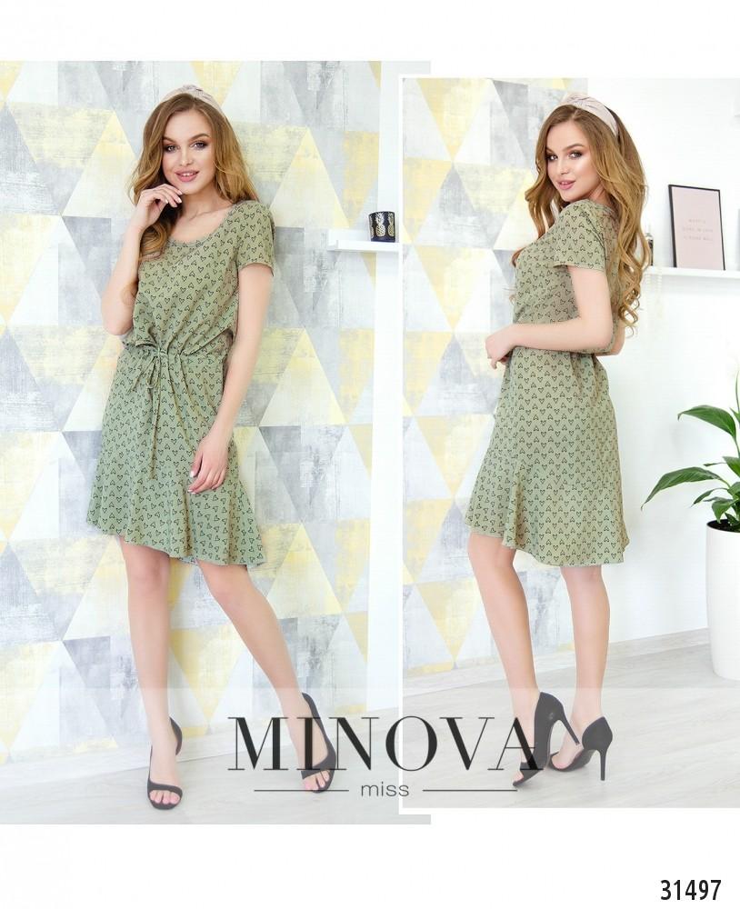 Платье №6219-оливковый (н)