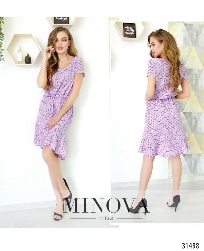 Платье №6219-сиреневый (н)