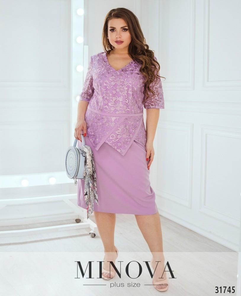 Платье №1827-сиреневый